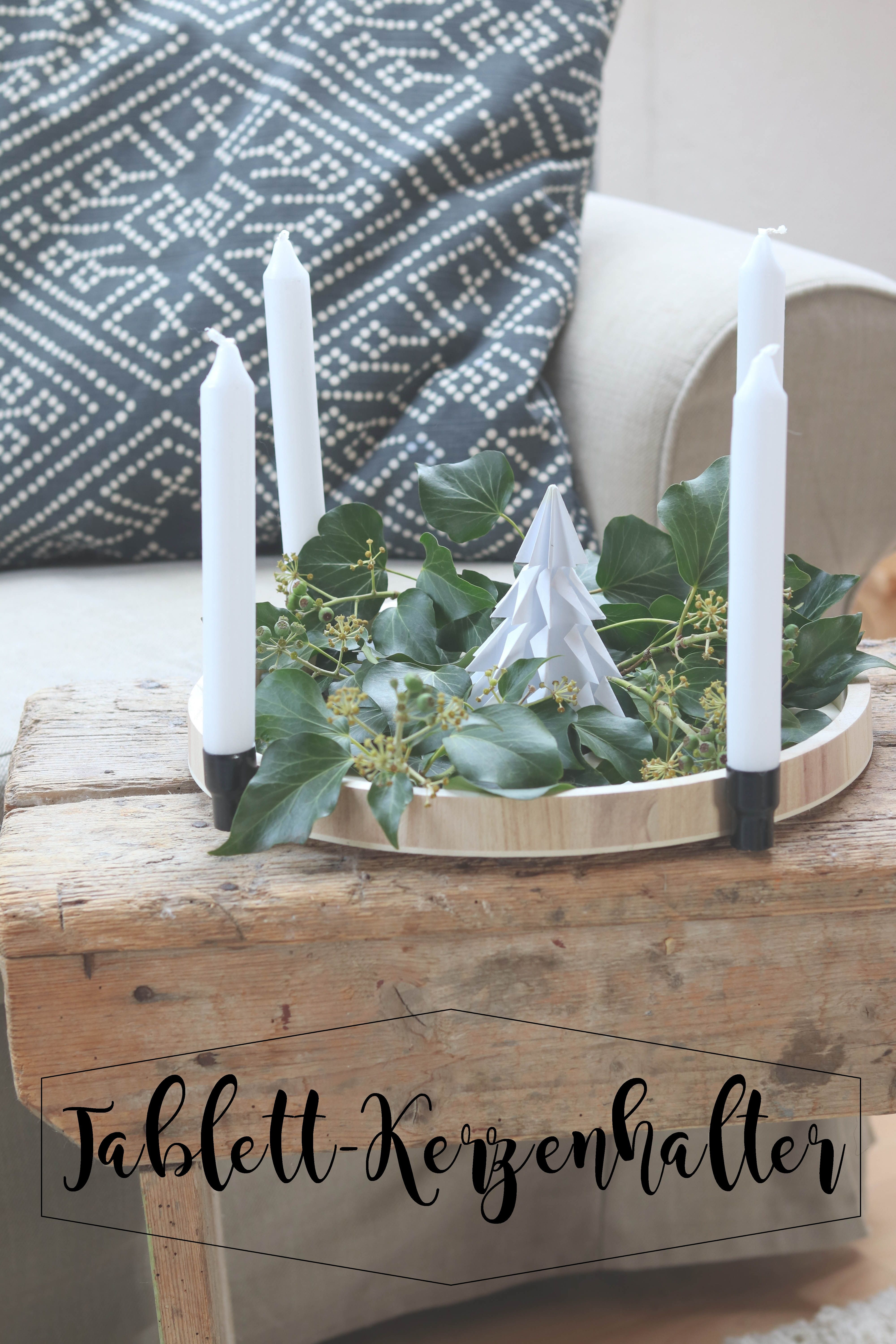 eine prise sternenstaub diy tablett adventskranz und. Black Bedroom Furniture Sets. Home Design Ideas