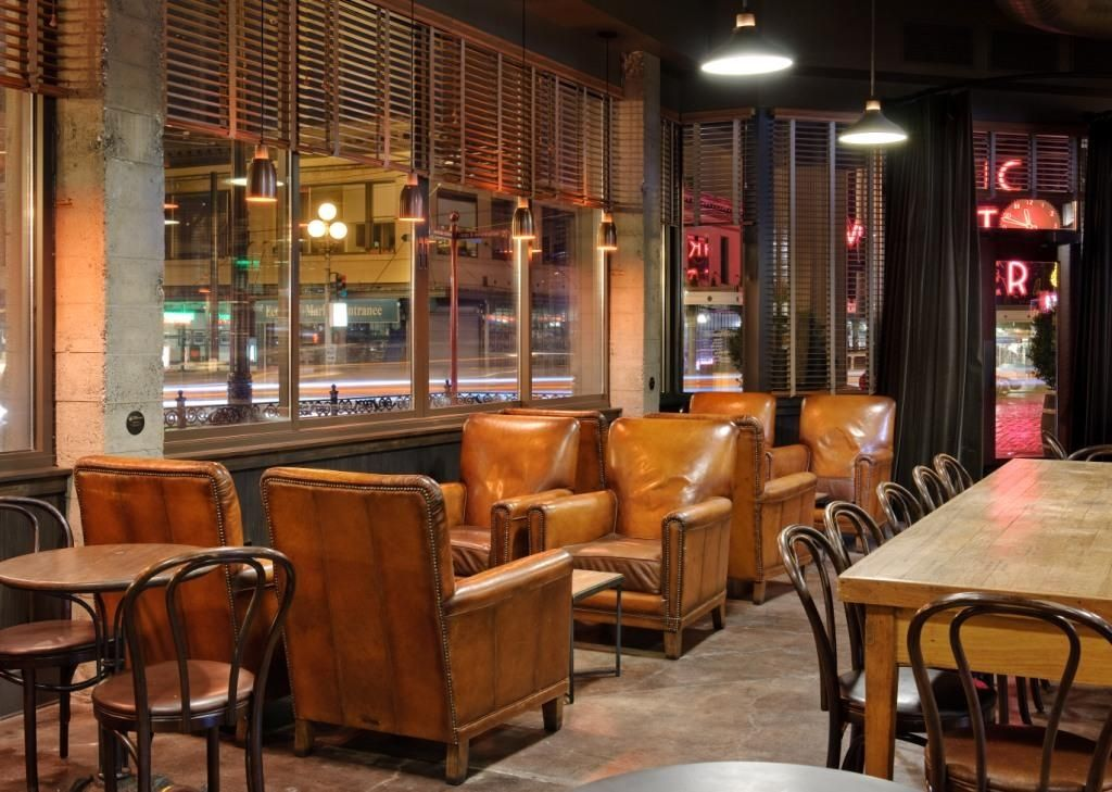 cozy leather chairs in the kitchen