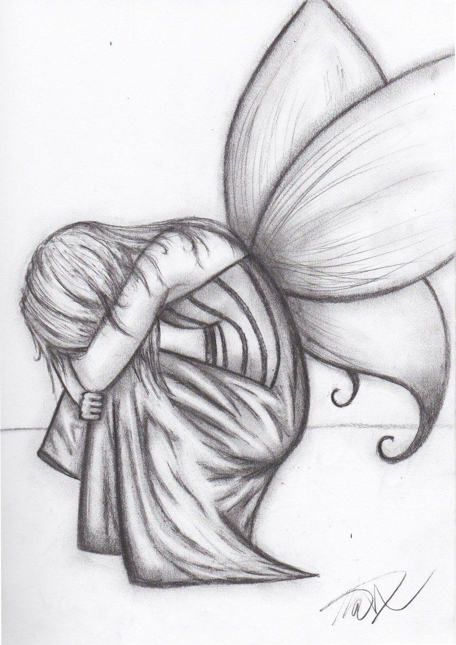 Emo Girl Drawing Tumblr Pencil Drawings Easy Fairy Drawings