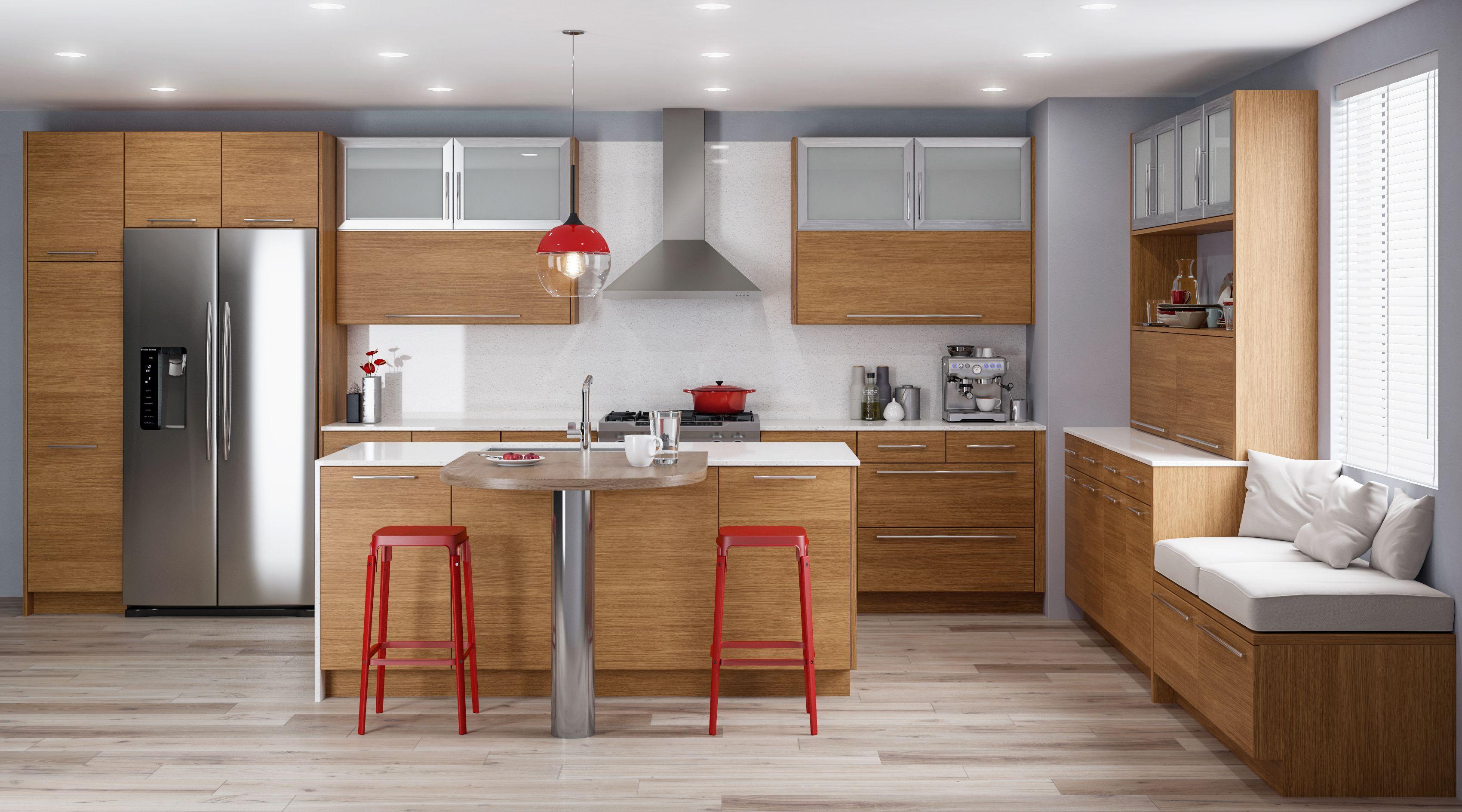Rift Rift White Oak Praline Frameless Kitchen Cabinets Kitchen Cabinets Oak Kitchen Cabinets