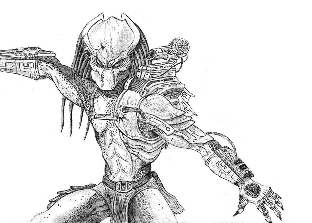 airsoft masks coloring pages | How to Draw a Predator Mask | Classic Predator by ...
