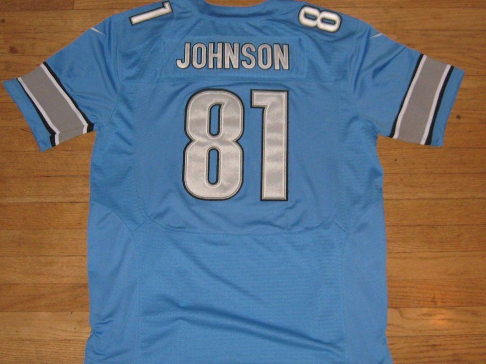 timeless design c3e73 fa6e5 Details about Nike NFL Detroit Lions Calvin Johnson # 81 ...