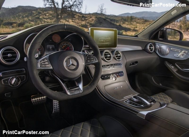 Mercedes-Benz C63 AMG Coupe Edition 1 2017 poster | Mercedes benz ...