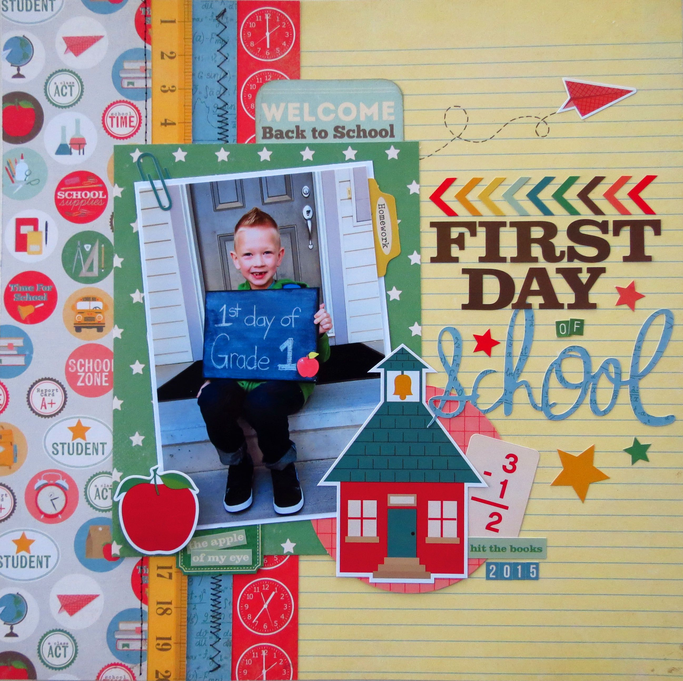 First Day of School Scrapbook Layout Ideas