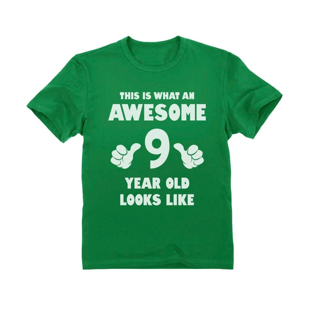 This Is What an Awesome 7 Year Old Looks Like Youth Kids T-Shirt Birthday Gift