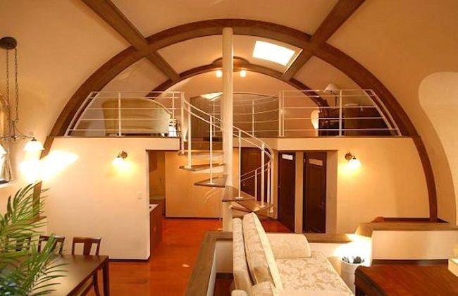 Aménagement intérieur d\u0027une dome house ©i-domehouse Décoration