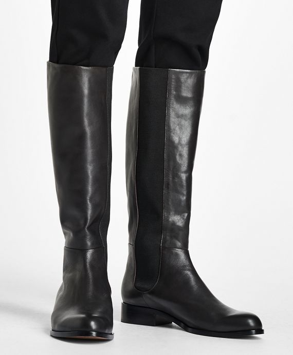 Tall Leather Boots - Brooks Brothers in