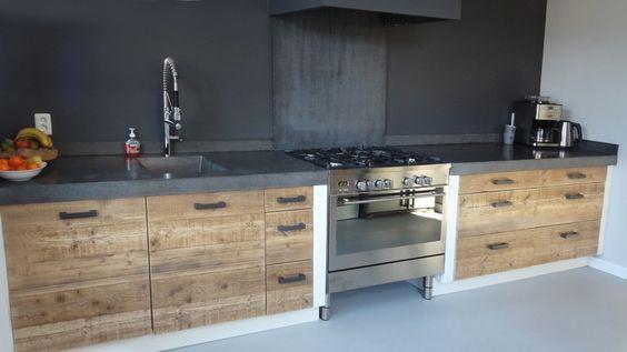 Beton Keuken Stoere : Keuken met betonnen aanrechtblad inrichting huis