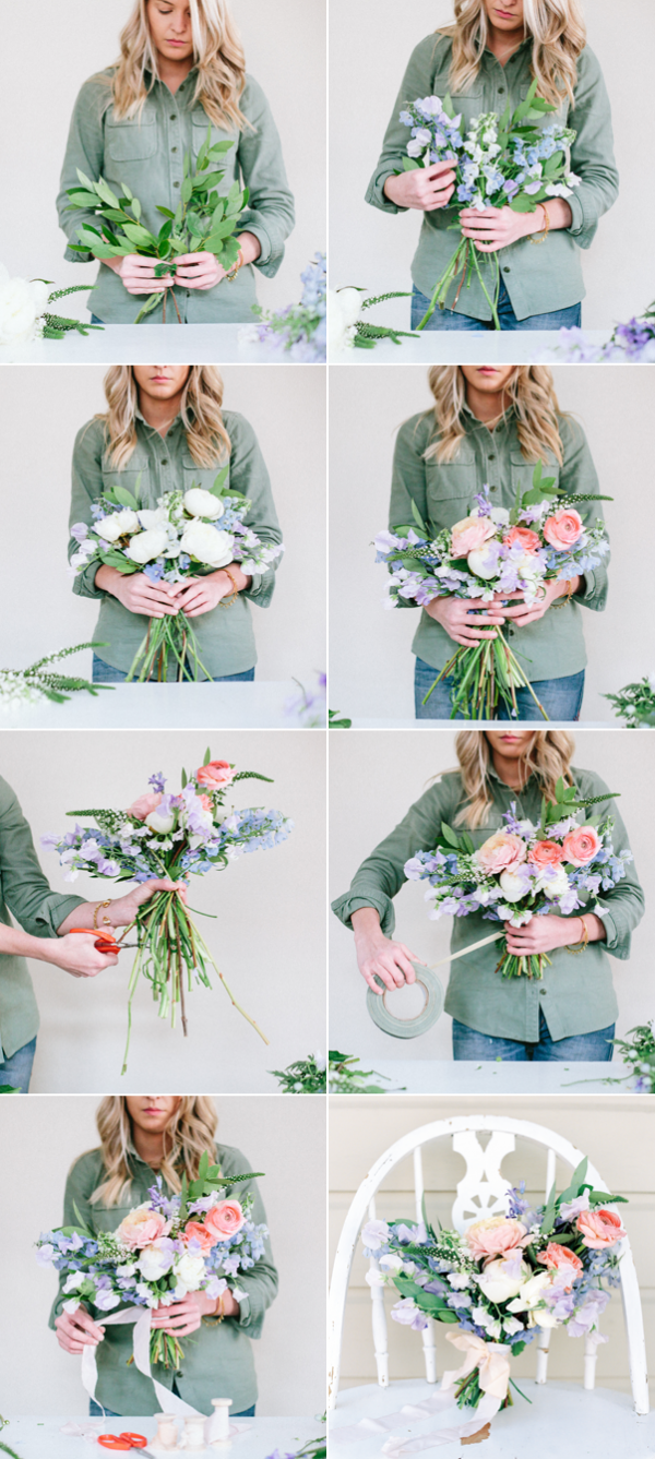 DIY Spring Bouquet - Once Wed | Flowers | Pinterest | Tutorials ...