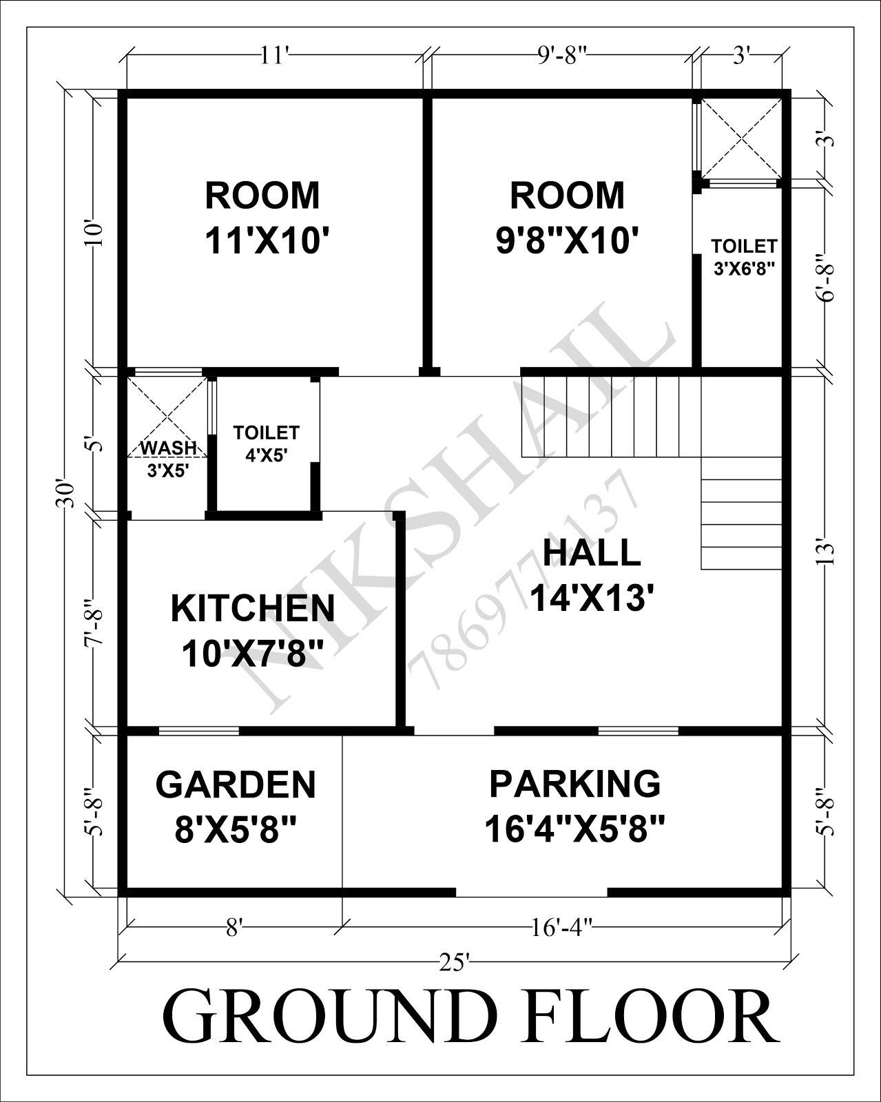 house plans 25 x 30 - Google Search in 2020 | 2bhk house ...