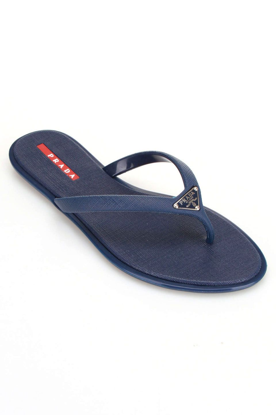 f0001629bb480 PRADA Saffiano Calzature Thong Sandal In Light Blue  229.99 I would not pay  this price for flip-flops even for Prada but these sandals are more my  speed.