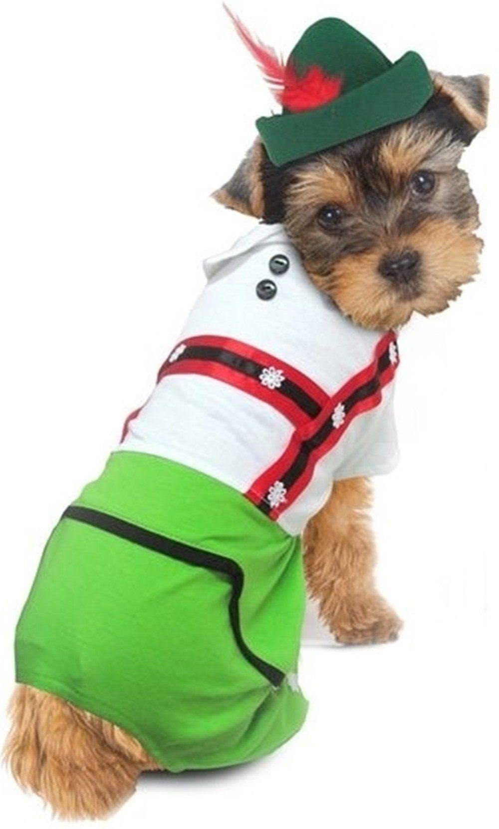 Oktoberfest Lederhosen Alpine Boy Dog Costume Girl Dog