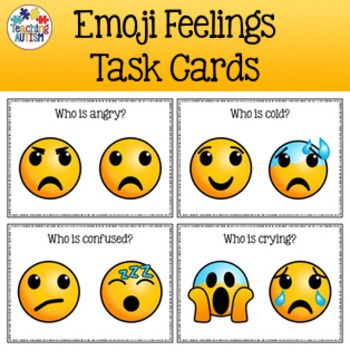 This download includes 10 different individual task cards. Each task card  asks students to select/point to a certain emotion / feeling that is  displayed on ...
