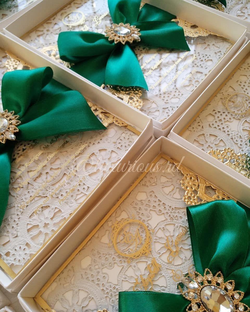 Invitations Wedding Elegant Invite Bodas Verde Esmeralda Invitaciones De Boda Verdes Boda Verde