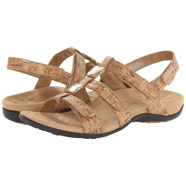 VIONIC Amber Women's Sandals ($80) ❤ liked on Polyvore featuring shoes, sandals, vionic shoes, embellished shoes, small heel shoes, low heel shoes and platform sandals