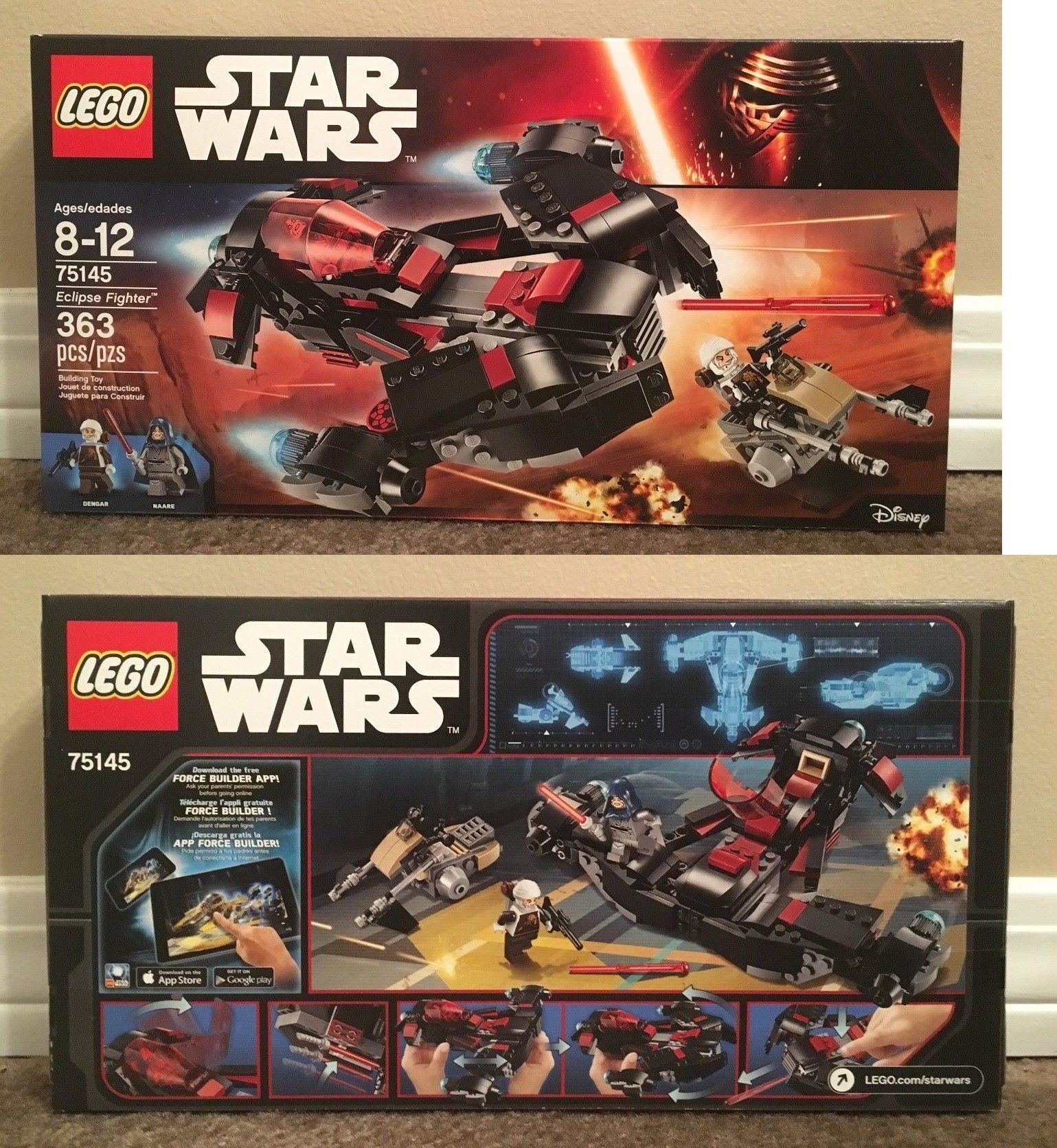 Building Toys 183446 Lego Star Wars Eclipse Fighter 75145 Brand