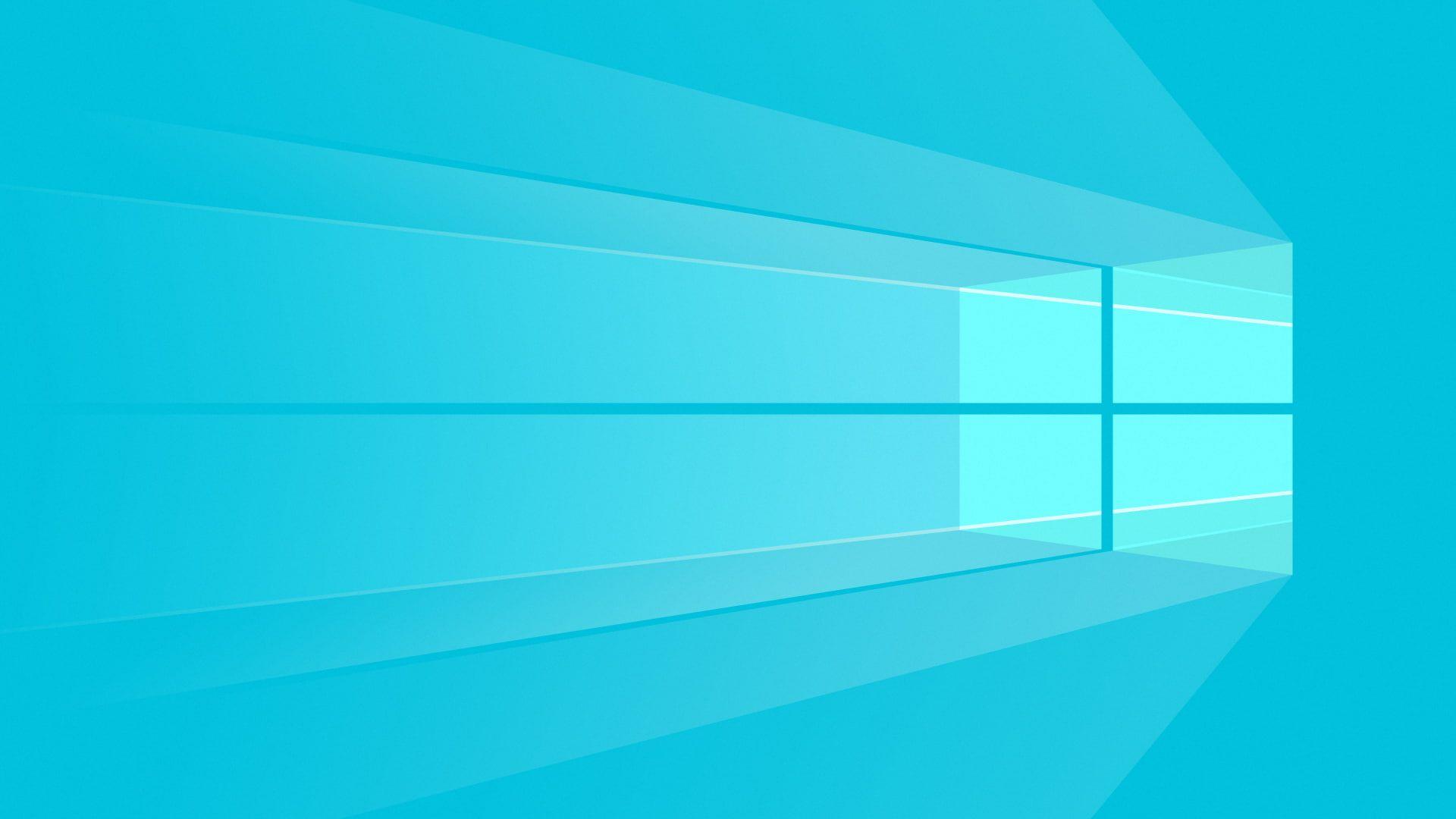 Windows 10 Blue Desktop Wallpaper