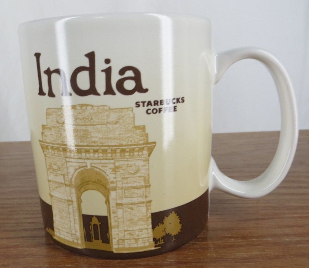 Starbucks India Collectors City Global Icon Series Coffee Mug Cup 16 oz 473 ml  #Starbucks