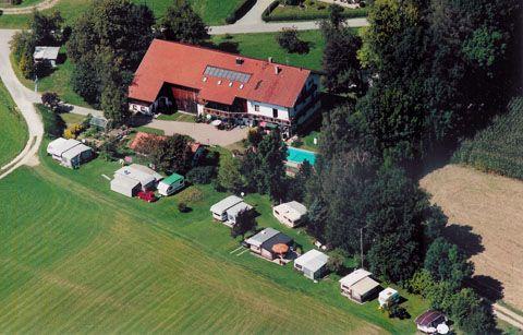 Campingplatz Ansicht Luft