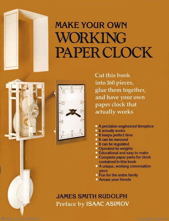 Browse Inside Make Your Own Working Paper Clock by James Smith Rudolph