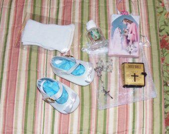 Five Piece Set. Wedding Gown Veil Petticoat von WinniesDollWardrobe