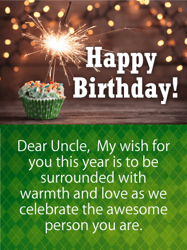 Green Birthday Cake Card For Uncle Birthday Greeting Cards By Davia Birthday Wishes For Uncle Uncle Birthday Happy Birthday Niece Wishes