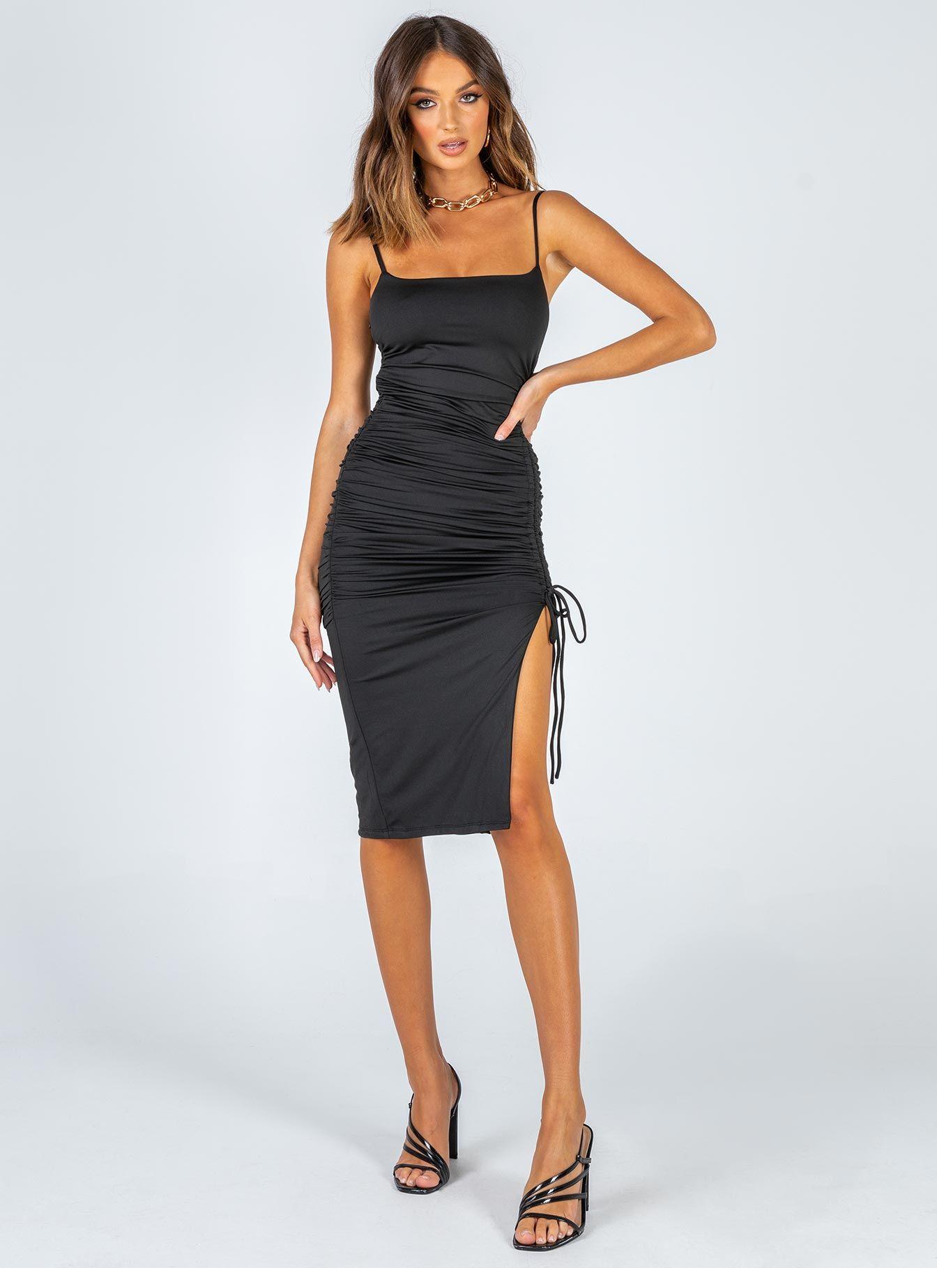 Adalee Midi Dress Black Black Midi Dress Dresses Midi Dress [ 1820 x 1344 Pixel ]