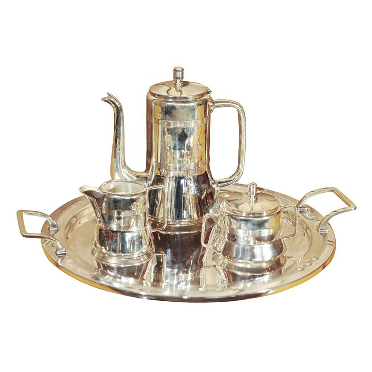 1stdibs.com | Silver Plate Coffee Set/ Arts and Crafts Era  sc 1 st  Pinterest & Silver Plate Coffee Set/Arts and Crafts Era | Coffee and Sugaring