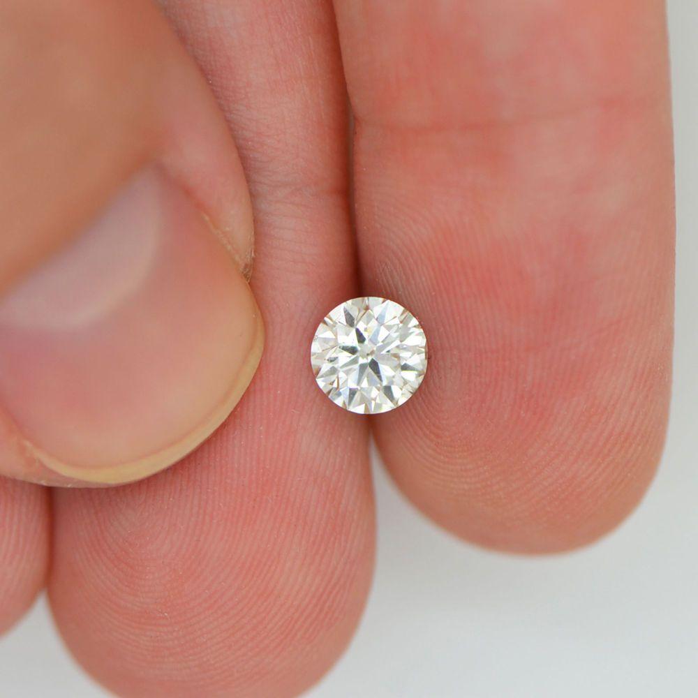 Round Brilliant Natural Loose Diamond 072 Carat I VS2 Enhanced For
