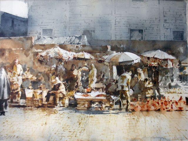 Geoffrey Wynne Acuarelas - Watercolours: Marruecos - Morocco