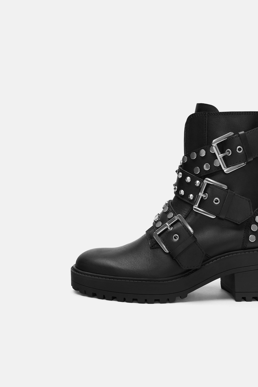 meilleure sélection 8e58b 259df Bottines plates en cuir à boucles | Nice shoes en 2019 ...