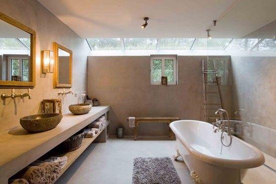 Beton stuc in de badkamer - Badkamer | Pinterest - Badkamer en Ideeën