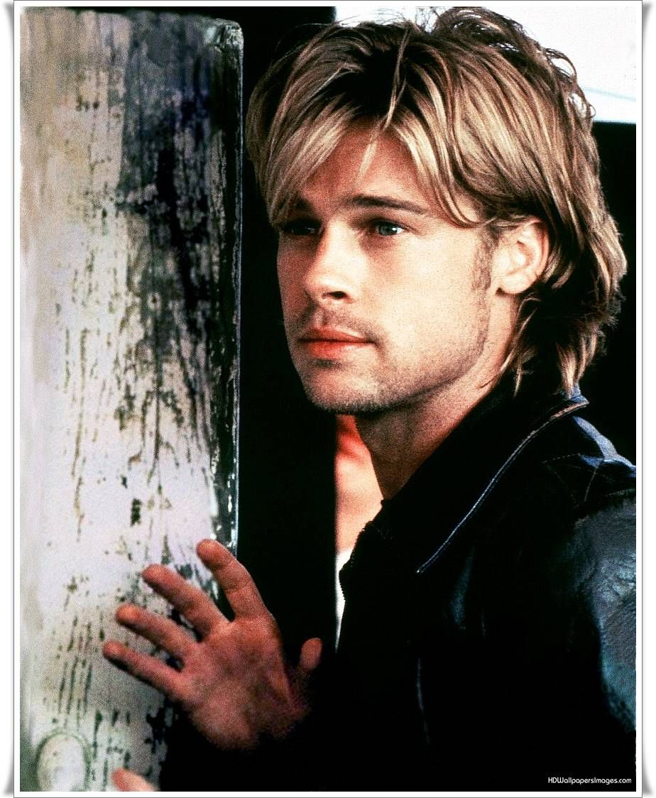 Haircuts for round faces men brad pitt  celebrities movies  artists sports musicians