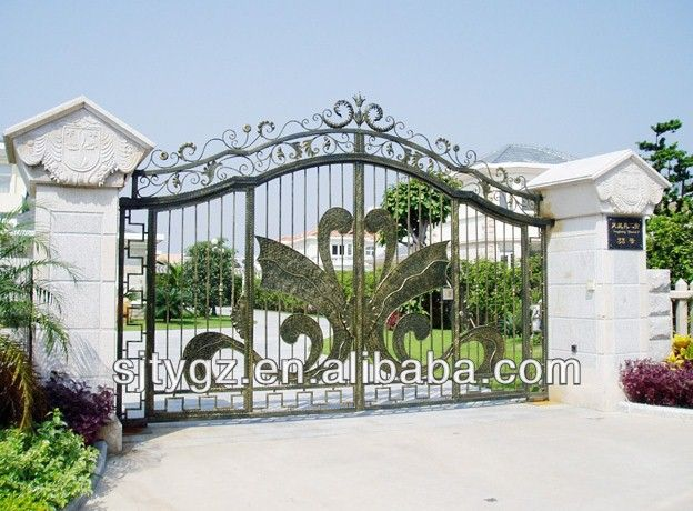 Luxury Wrought Iron Gate Grill Design From Guangzhou Suji Factory Photo Detailed About Luxury Wrought Iron Gate Grill Design From Guangzhou Suji F Zabor Vorota