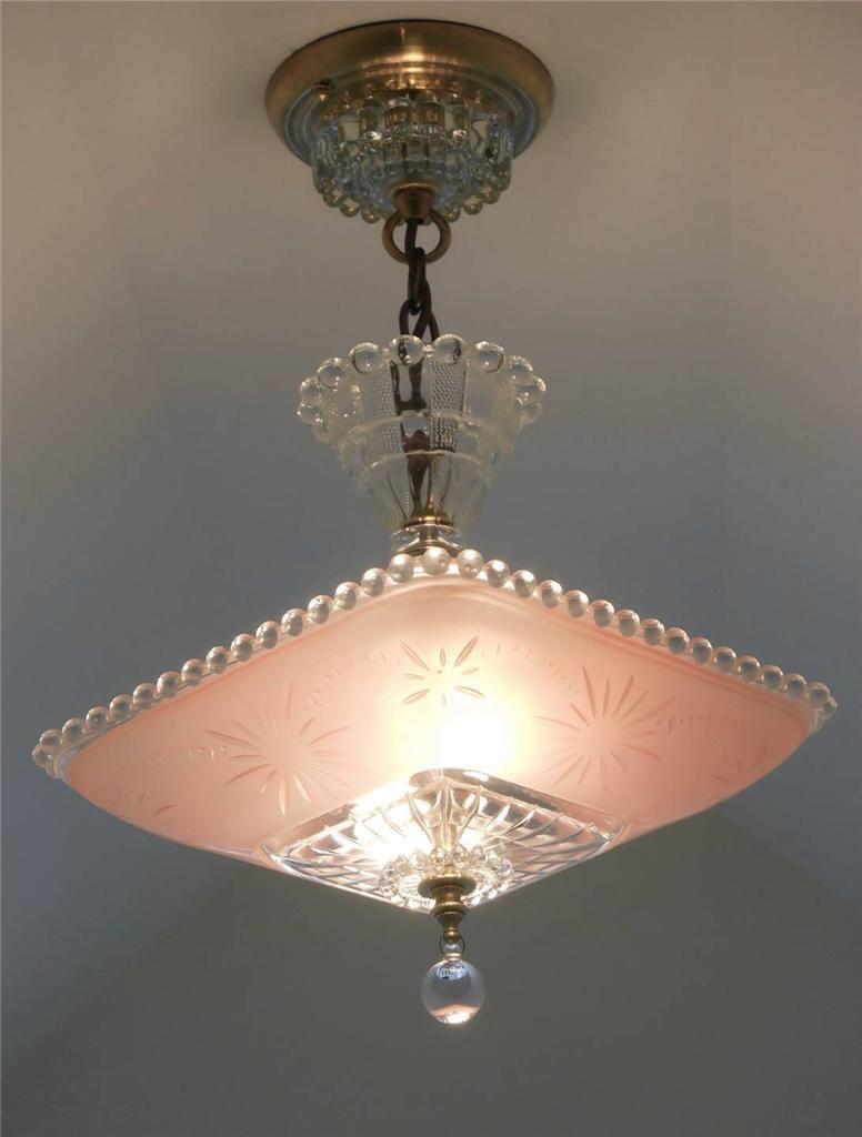 C 30 S Art Deco Victorian Ceiling Light Fixture Chandelier