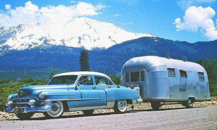 Blue Caddy & Airstream