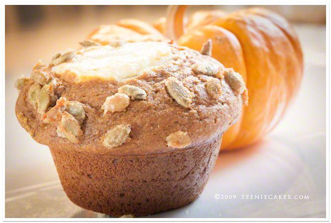 Teenie Cakes€™ Pumpkin Cream Cheese Muffins with Pepita Crunch