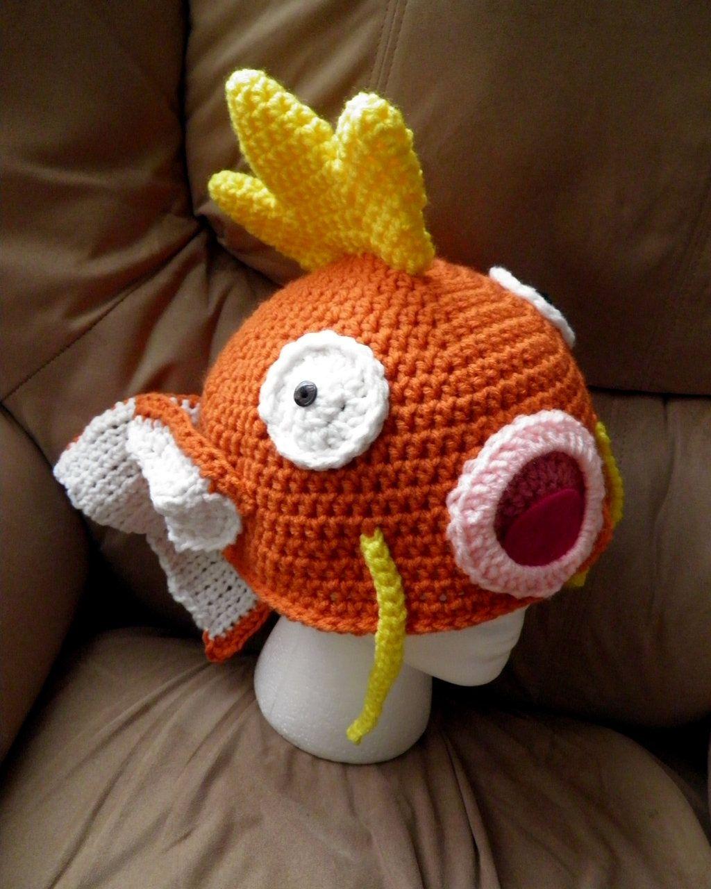 Magikarp, Hat, Pokemon | Crochet pokemon | Pinterest | Gorros, Gorro ...