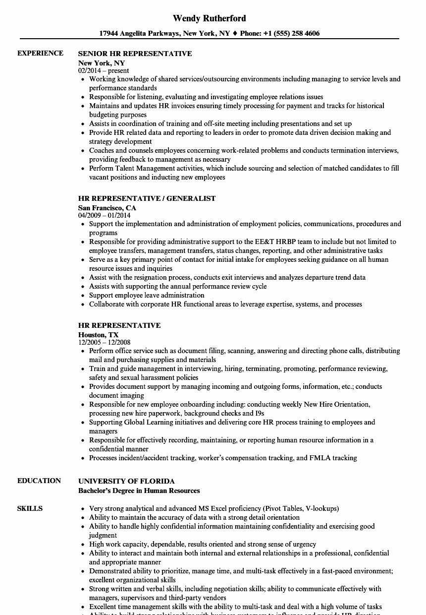 Sample Resume Of Hr Business Partner One Of The Best Ways You