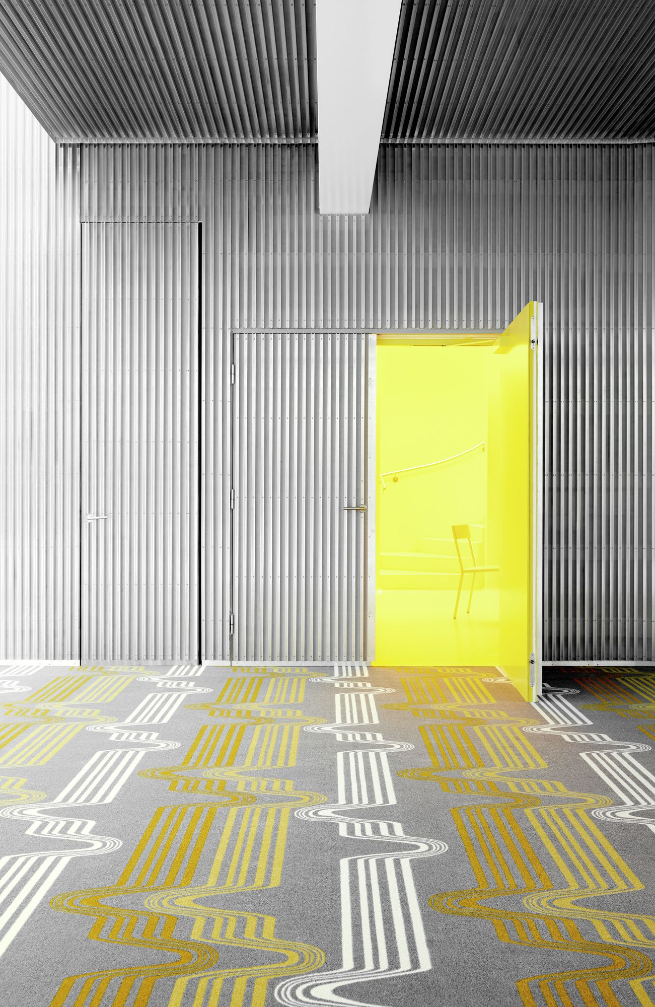 Vibrate Pattern Graphic Collection Yellow Grey Neon Interiors Carpet Egecarpet Pro2