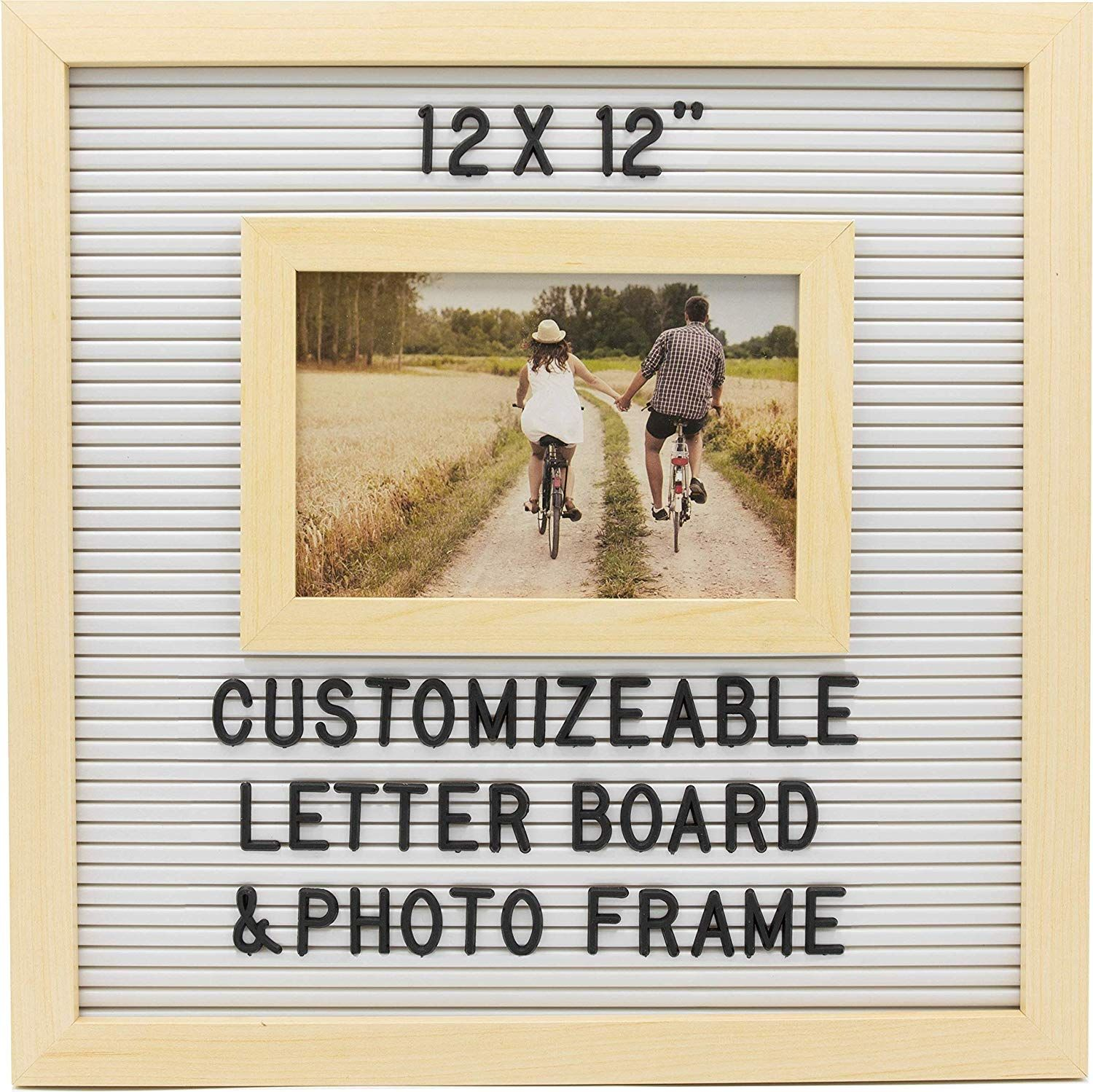 Under 15 Letterboard Photo Frame With Customizable Changable Words 12x12 Inch Includes Letters For Custom Messages Woo Photo Frame Custom Message Lettering