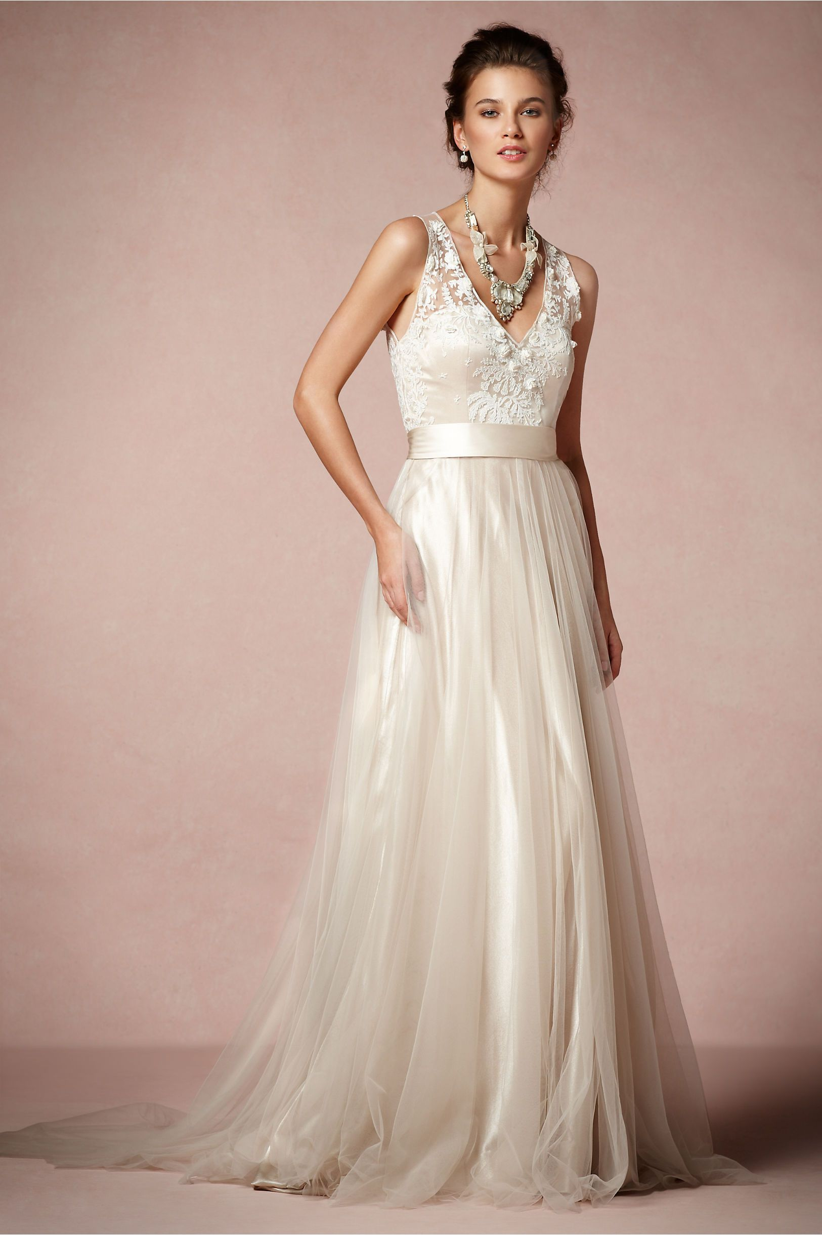 Onyx Gown from BHLDN | Wed | Pinterest | Novia de encaje, Vestidos ...