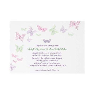 heart s a flutter wedding invitation by pretty fancy invites