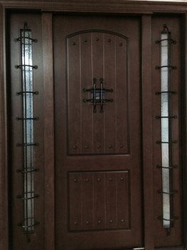 6 X 8 Rustic Mansion Entry Door W Glue Chip Glass