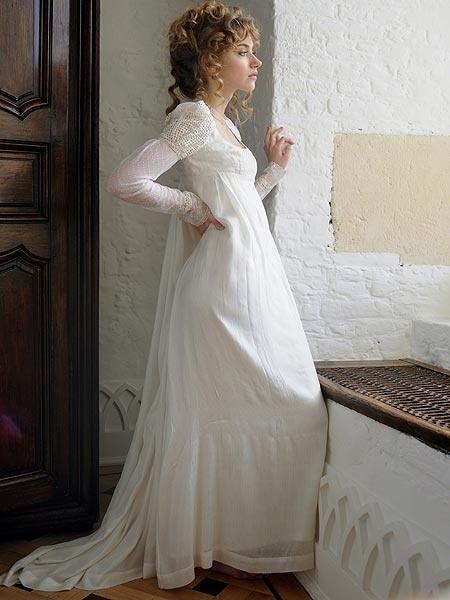 for Regency style wedding dress
