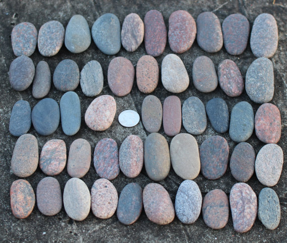40 large sea stones oval shaped beach stones wedding guest book 40 pcs pinterest. Black Bedroom Furniture Sets. Home Design Ideas