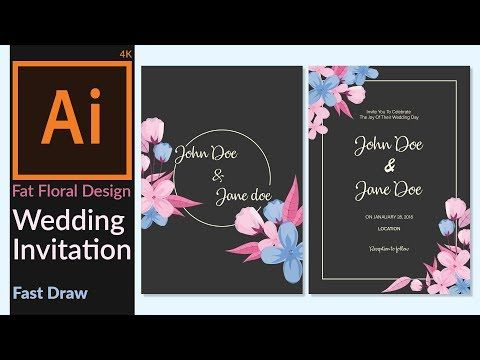 Wedding invitation card designing in adobe illustrator cc wedding invitation card designing in adobe illustrator cc minimalist flat floral design youtube stopboris Choice Image