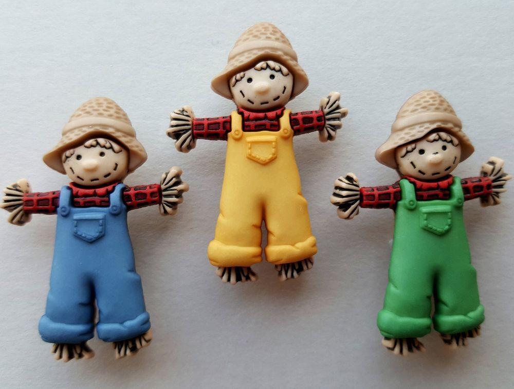 3 x scarecrows farm farmer harvest halloween dress it up