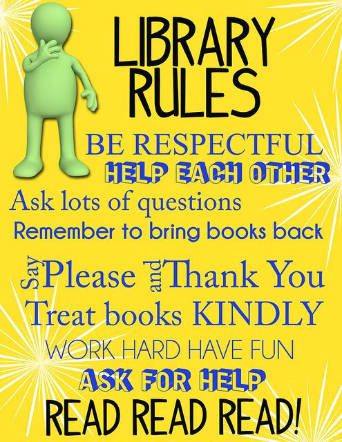 Libraryrules Library Rules Library Ideas And Library