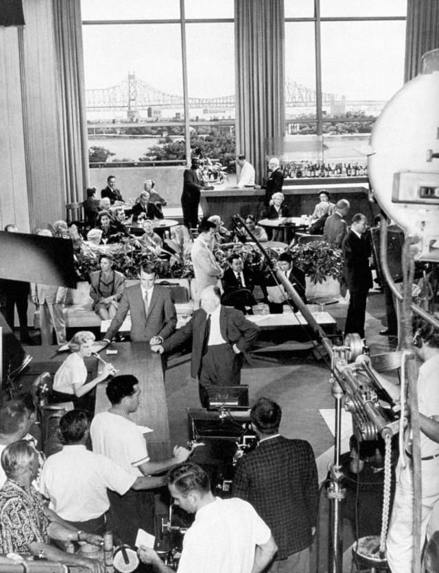 On the set of NORTH BY NORTHWEST.